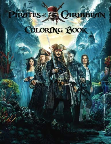 Pirates of the Caribbean Coloring Book: Activity Book for Kids and Adults - 40 coloring -