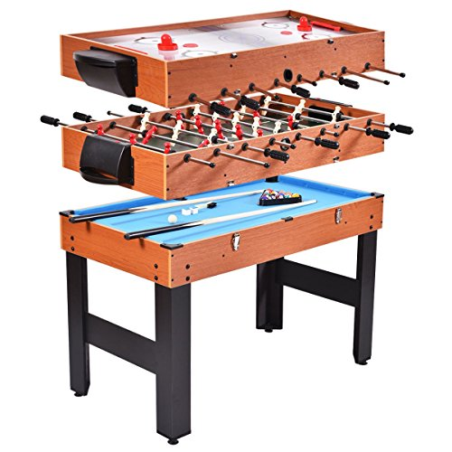 3 In 1 Family Indoor Sport Multi Combo Foosball Soccer Game Table Hockey Billiards Easy Convert (Storage Kit Tabletop Conversion)