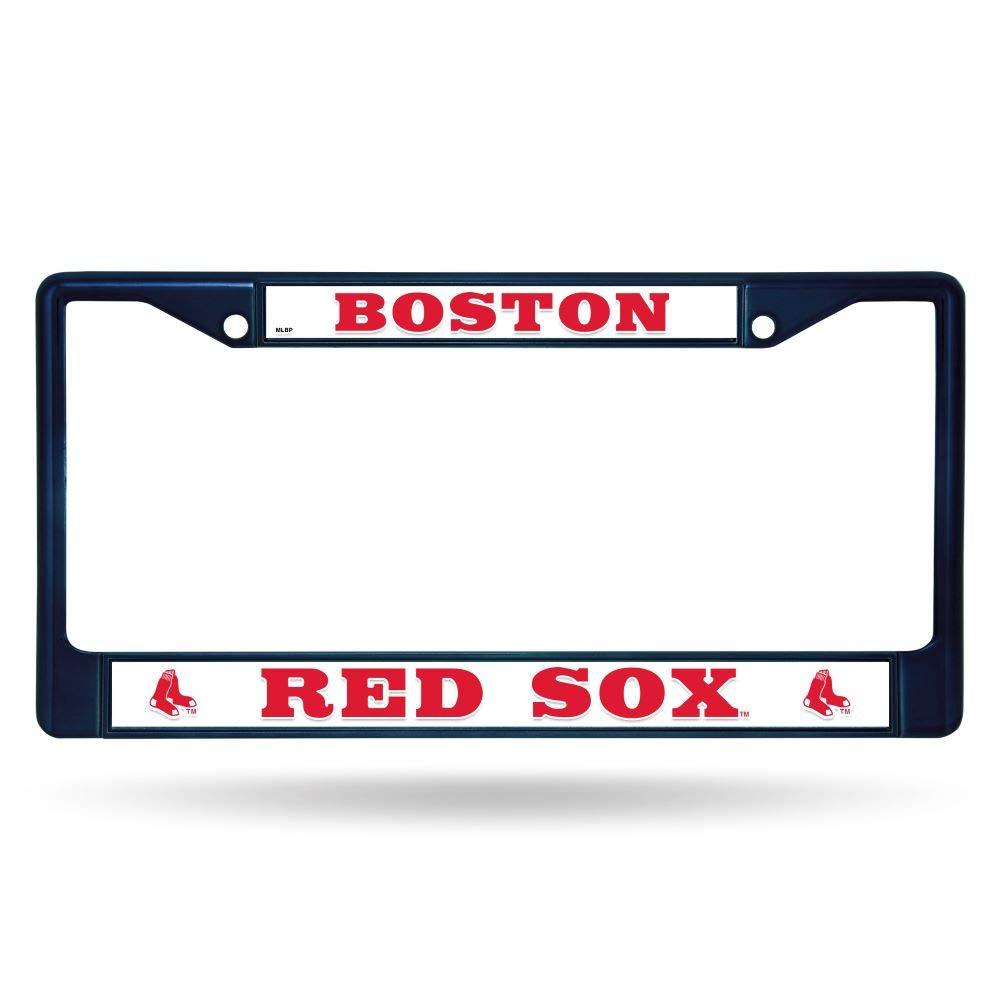 Frame Secondary Navy Logo Color 15 x 8 MLB Red Sox Chrome Frame