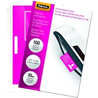 Fellowes Laminating Pouches, Thermal, ID Tag Size, 10 Mil, 100 Pack (52051)