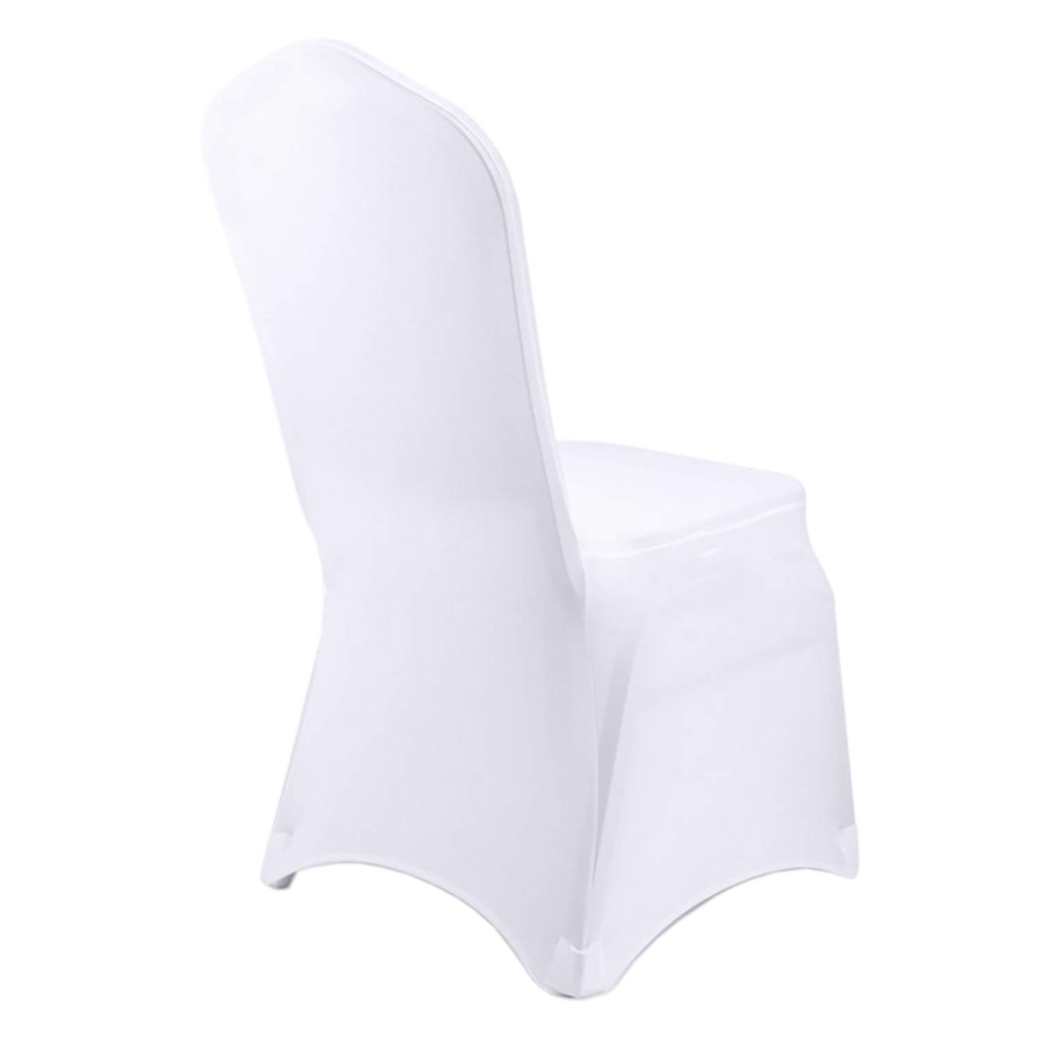Special T White Chair Covers – 50 Pack Banquet Chair Covers, Polyester & Spandex Chair Covers for Wedding Party Dining