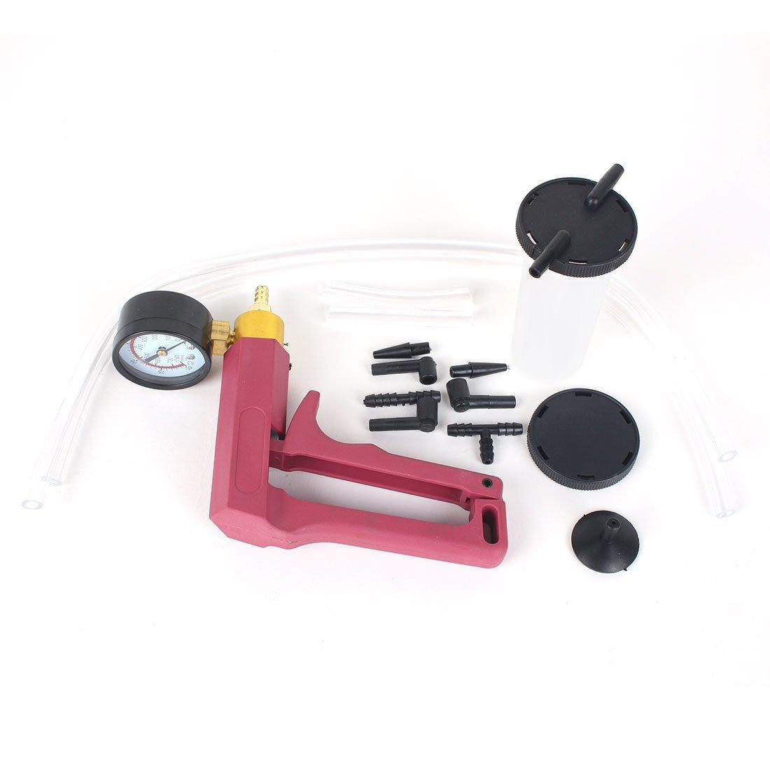 13PC Hand Held Vacuum Pressure Pump Tester Kit Brake Fluid Bleeder Car Motorbike Bleeding Set by Copap (Image #2)