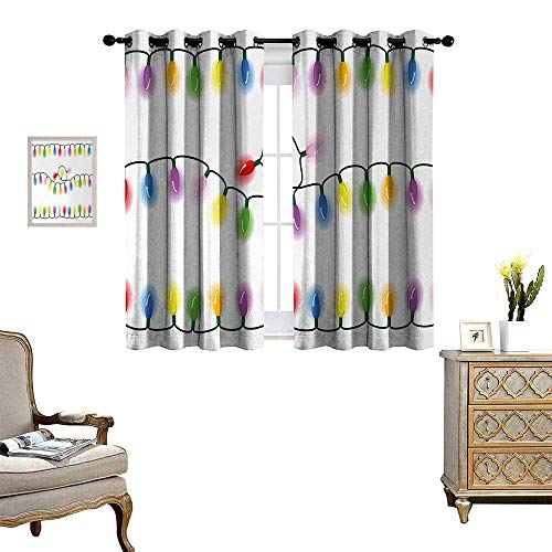 Anyangeight Kids Christmas Waterproof Window Curtain Add Vibrant