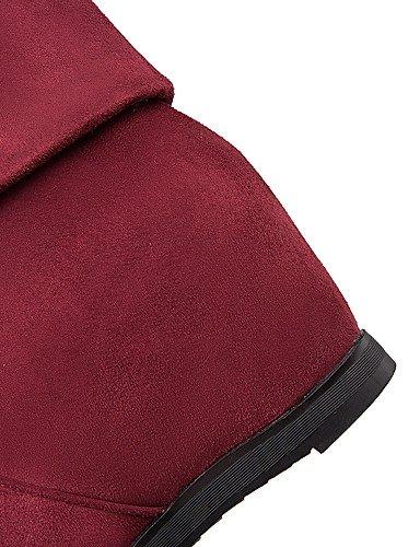 XZZ  Damen-Stiefel-Outddor     Lässig-Kunstleder-Niedriger Absatz-Modische Stiefel-Schwarz   Rot B01KPZY6DG Sport- & Outdoorschuhe Förderung cc9623
