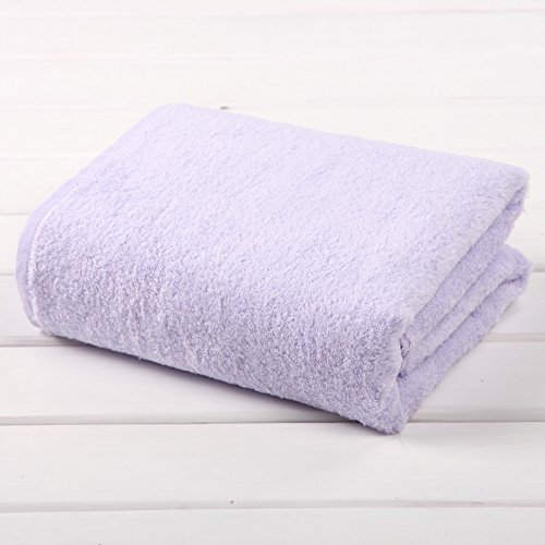TDLC The new no-twist yarn towel adult men, the children's bath towels bath towel,V Purple by TDLC