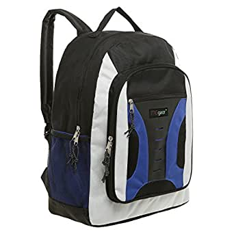 MGgear Blue Multipurpose Student School Book Bag / Children Outdoor Backpack