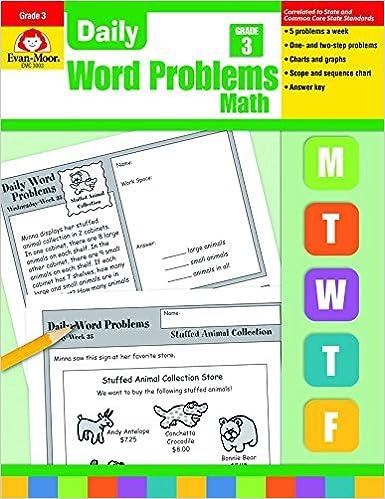 Amazon com: Daily Word Problems, Grade 3 (9781557998156): Jill