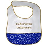I'm Not Crying, I'm Davening! Jewish Baby Bib by Davida