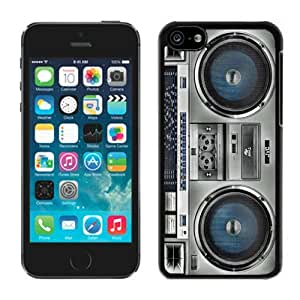 Personalised Retro Designs Boombox Beautiful Iphone 5c Case Black Cell Phone Hard Back Shell Cover