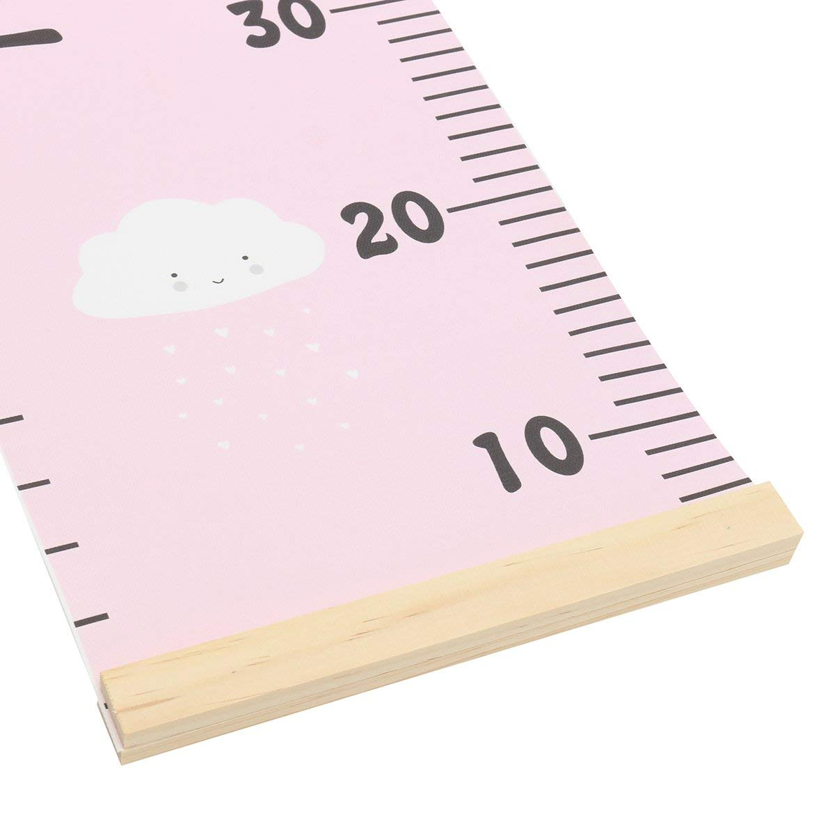 Charming Height Growth Chart Ideal Gift for Any Boy and Girl Pink Cloud
