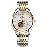 HEOJEO Nirvana In Fire Bracelet Automatic Mechanical Watch For Men Two Small Sub-dial Analog Swiss Watches - Stainless Steel Watches Gold - Gentlemen Designer Watch