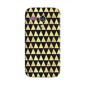 Cover It Up - Gold Black Triangle Tile Moto G Hard Case
