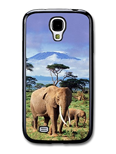 Elephants With Kilimanjaro in the Background Africa coque pour Samsung Galaxy S4