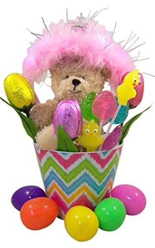Princess-Themed-Easter-Basket-with-Light-Up-Tiara-Crown-and-Plush-Teddy-Bear-and-Candy-Filled-Eggs