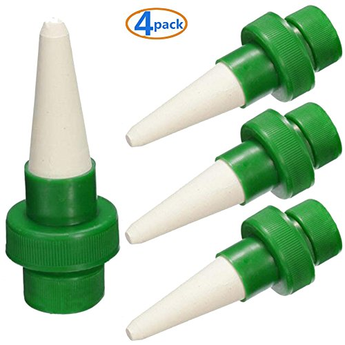 Probe Adapt (LGDehome Plants Self Waterer Automatic Self-Watering Stakes System Cone funnel Drip Irrigation Ceramic Spikes Probes Kits Vacation Potted Plant Watering (4 Pack))