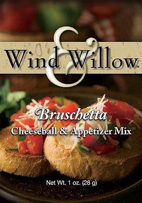 Cheeseball Willow - Wind & Willow Bruschetta Cheeseball & Appetizer Mix - 1 Ounce - (4 Pack)