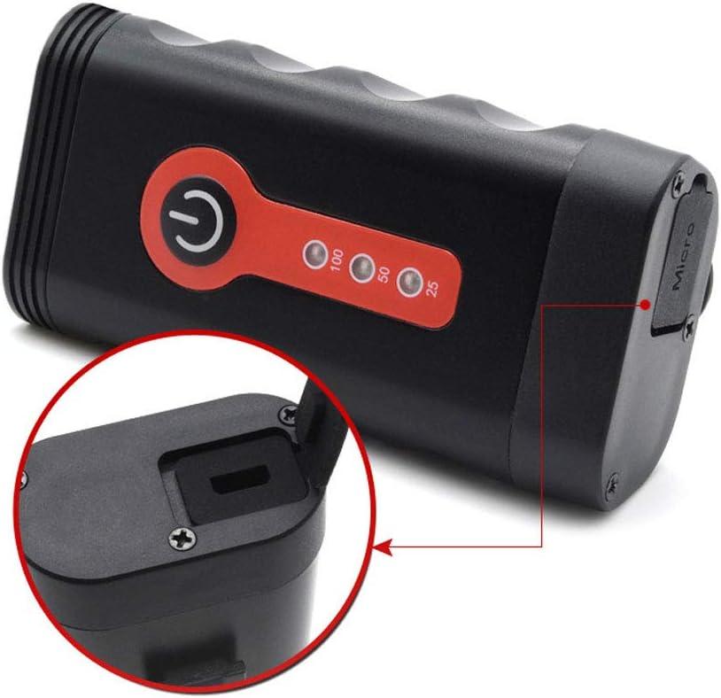 4400Mah Power Bank Super Lumineux Phare de v/élo de Montagne /étanche v/élo Avant /éclairage de s/écurit/é Lampe de Poche QWERDF Lumi/ère de v/élo Rechargeable USB