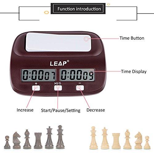 lingye Horloge d'échecs, chess clock,chronomètre professionnel d'échecs, affichage de précision numérique de haute définition, certification de FIDE,