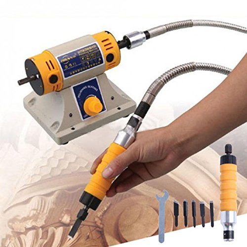 Electric Chisel Carving Tool Wood Carving Machine Woodworking Chisel (Host +Chisel + shaft) (110V)