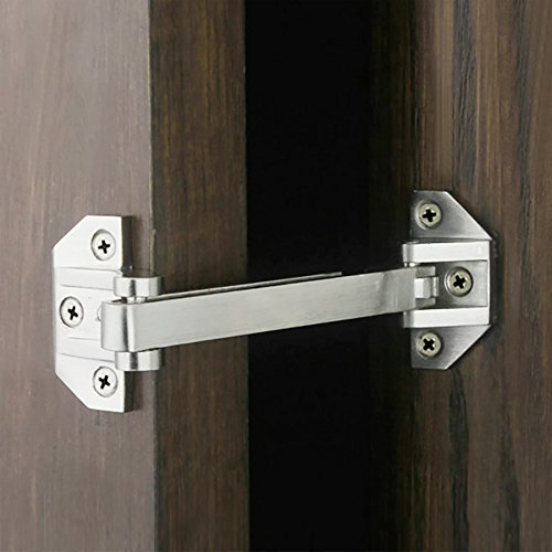 Alise MS660 Swing Bar Door Guard Lock Door Security Latch,Brushed - Door Duty Heavy Locks
