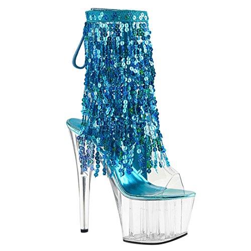 Pleaser Clear c Ankle aqua s Clear Bootie c Holo Ado1017sqf Women's rOqv6r