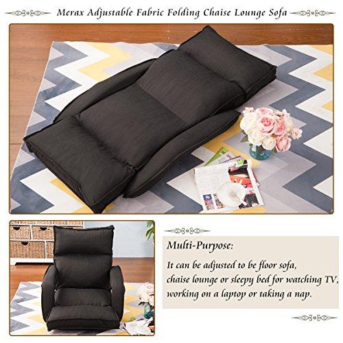 Surprising Merax Adjustable Fabric Folding Chaise Lounge Sofa Chair Cjindustries Chair Design For Home Cjindustriesco