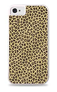 Small Leopard Print White 2-in-1 Protective Case with Silicone Insert for Apple iPhone 4 / 4S