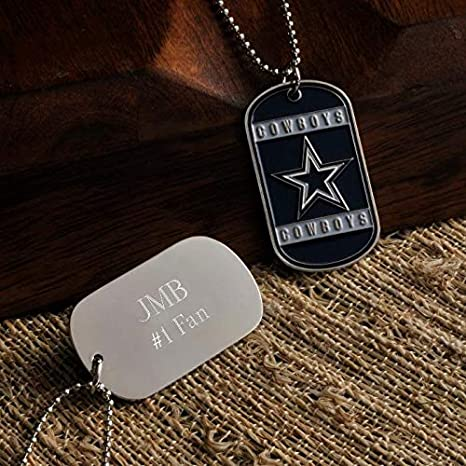 Image Unavailable. Image not available for. Color  Gifts Engraved  Personalized Free NFL Dog Tag eda0a0a9c