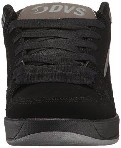 DVS Shoes Men's Drone Skate Shoe, Black/Charcoal Leather Black Charcoal Nubuck