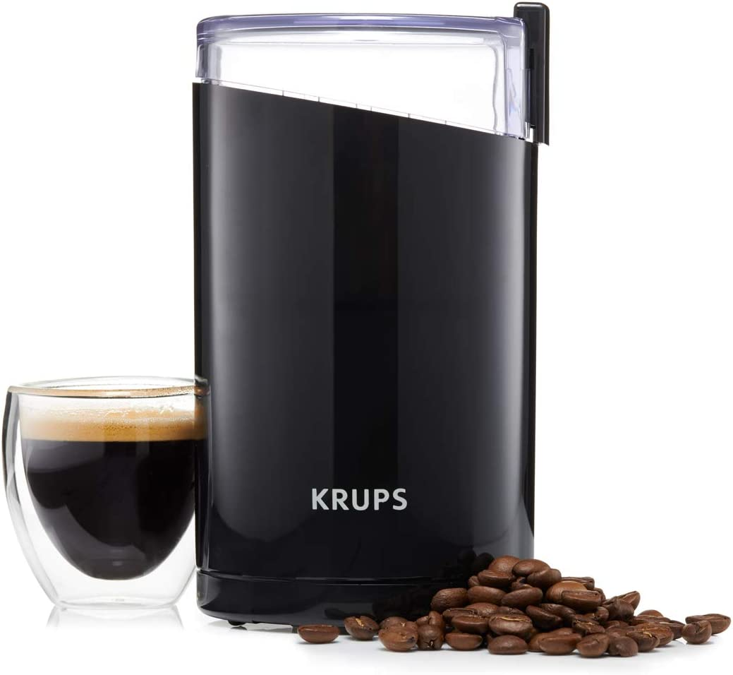 KRUPS F203 Electric Spice and Coffee Grinder with Stainless Steel Blades, 3 oz / 85 g', Black