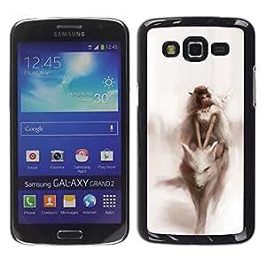 For Samsung Galaxy Grand 2 II / SM-G7102 / SM-G7105 Case , Watercolor Fairytale Dream Woman - Diseño Patrón Teléfono Caso Cubierta Case Bumper Duro Protección Case Cover Funda