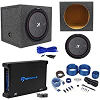 Kicker 43CWR154 COMPR15 15 1600W Subwoofer+Sealed Box+Mono Amplifier+Amp Kit
