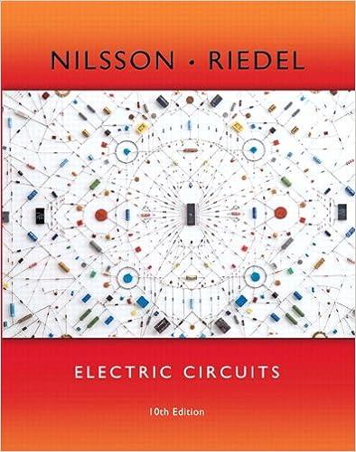 Electric Circuits 10th Edition James W Nilsson Susan Riedel