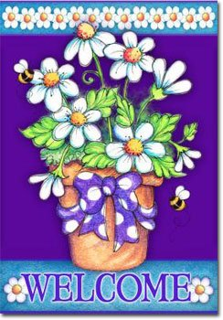 Daisy Welcome - 28 x 40 Toland Art Banner Flagline