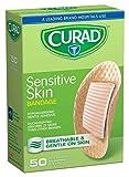 Curad Sensitive Skin Bandages, 1'' Diameter, Natural (Pack of 24) (Pack of 24)