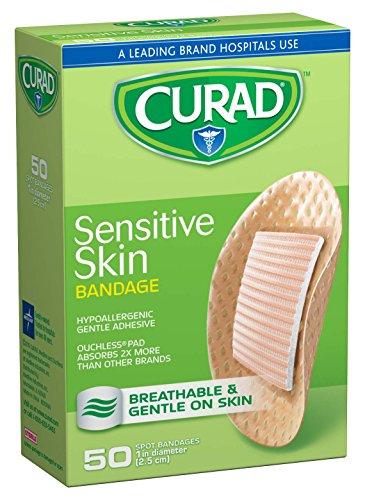 """medline Curad Sensitive Skin Bandages, 1"""" Diameter, Natur..."""