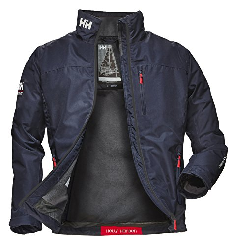 Helly Hansen Men's Crew Midlayer Waterproof Windproof Breathable Sailing Rain Coat Jacket, 597 Navy, X-Large