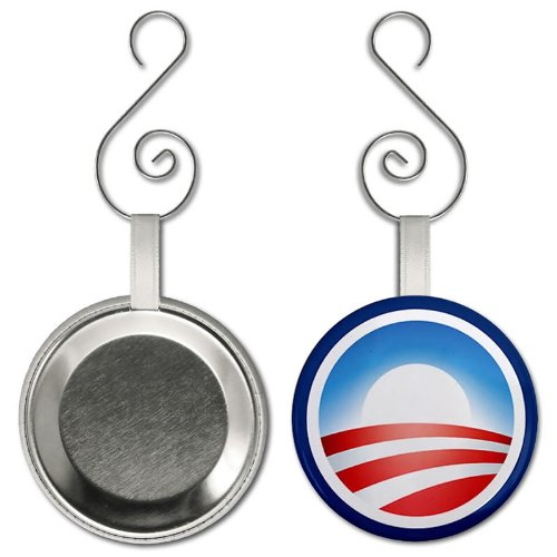 US President Barack Obama Campaign Logo 2.25 inch Button Style Hanging ()