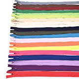 40Pcs Mix Nylon Invisible Coil Zippers For Tailor Sewer Sewing Craft Crafter's Clothes 16 Inch (2 Pcs Each Color, 20 Colors)
