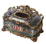 Werty Multifunctional Creative European Living Room Fashion American Minimalist Hand-Painted Resin Tissue Box Tray Tissue