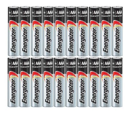 Energizer AAA Max Alkaline E92 Batteries Made in USA – Expiration 12/2024 or later – 20 count