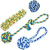 KELIFANG Dog Rope Toys, Dog Chew Toys, Rope Dog Toy, Rope Chew Toys, Durable and Washable Dog Toy Set for Medium Large Dogs (4 Packs)