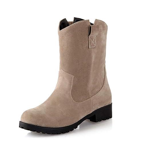 42dce183 Botines Cortos cálidos de tacón bajo para Mujer con Punta Redonda:  Amazon.es: Zapatos y complementos