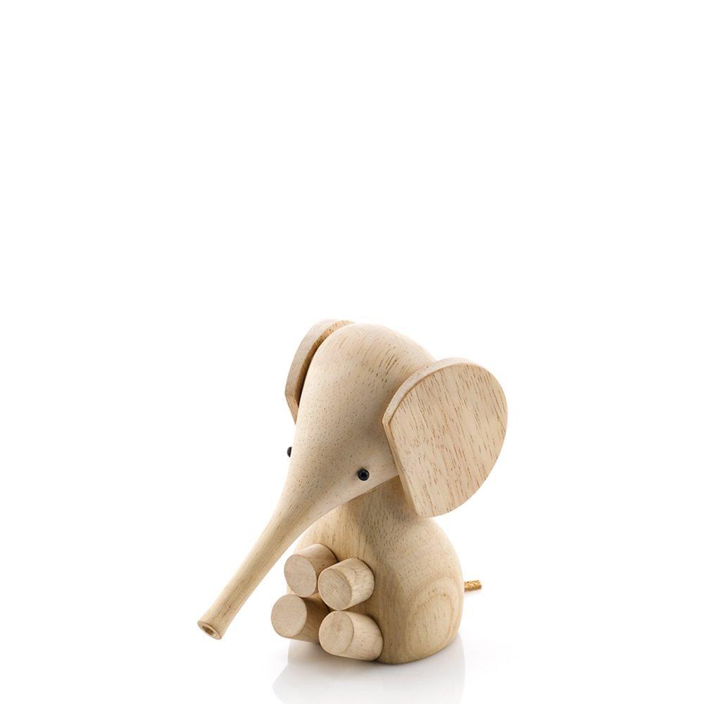Lucie Kaas - Elefant Dekofigur   Figur - Kautschukholz - Höhe 11 cm