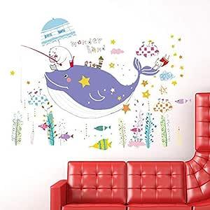 ملصق دولفين مبتكر لجدار العالم تحت البحر