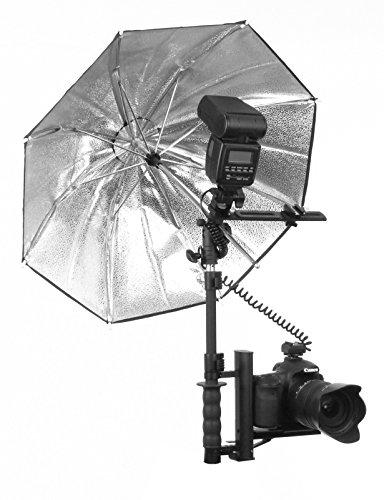 Alzo Ultra Flip Flash  Bracket Canon Eos Slr Pro Umbrella Kit (Black) by ALZO Digital
