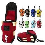 YDZN Elastic Neoprene Mini Golf Ball Holder Bag Goft Tees Holder Bag Carry Pouch Belt Clip For Golf Training(1 Pc)