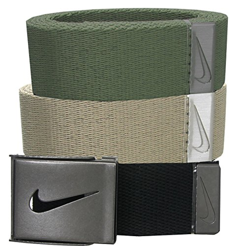 Nike Mens Belts 3-in-1 Web Pack One Size Fits Most