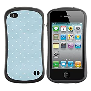 Suave TPU GEL Carcasa Funda Silicona Blando Estuche Caso de protección (para) Apple Iphone 4 / 4S / CECELL Phone case / / Baby Blue White Pattern /