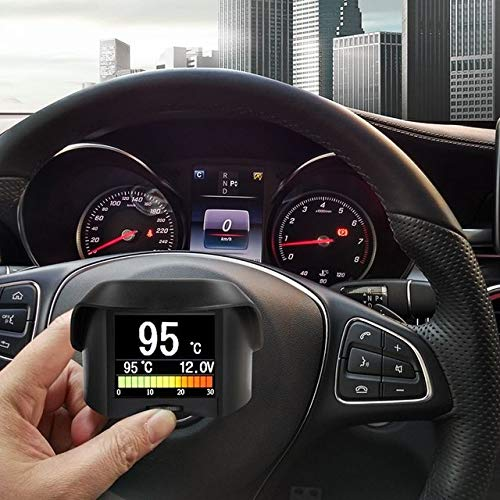 FairOnly A202 OBD2 Fuel Consumption Meter Car Onboard Computer Water Temperature Voltage Speed Small Digital OBD 2 Driving Computer Show